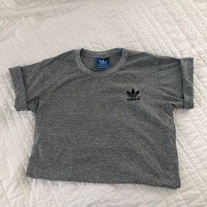 Women's Adidas T-Shirt Gray Medium